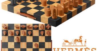 Xadrez Hermès Horsecut Chess de Alto Luxo por 7.500 Dólares