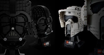 Capacetes Star Wars LEGO: Darth Vader e Scout Trooper