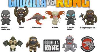 Chaveiros Godzilla vs. Kong 3D Figural Bag Clip (Blind-Box)