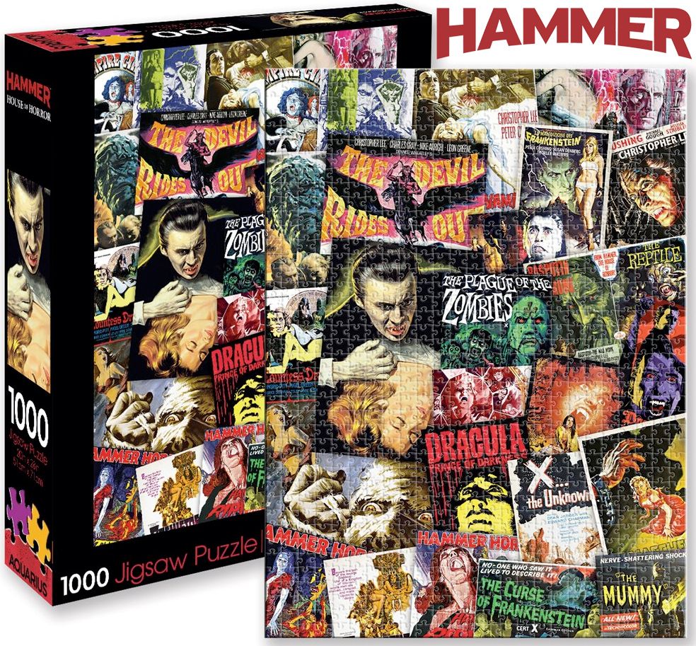 Quebra-Cabeça Hammer Horror Classic Movies Collage 1000-Piece Puzzle