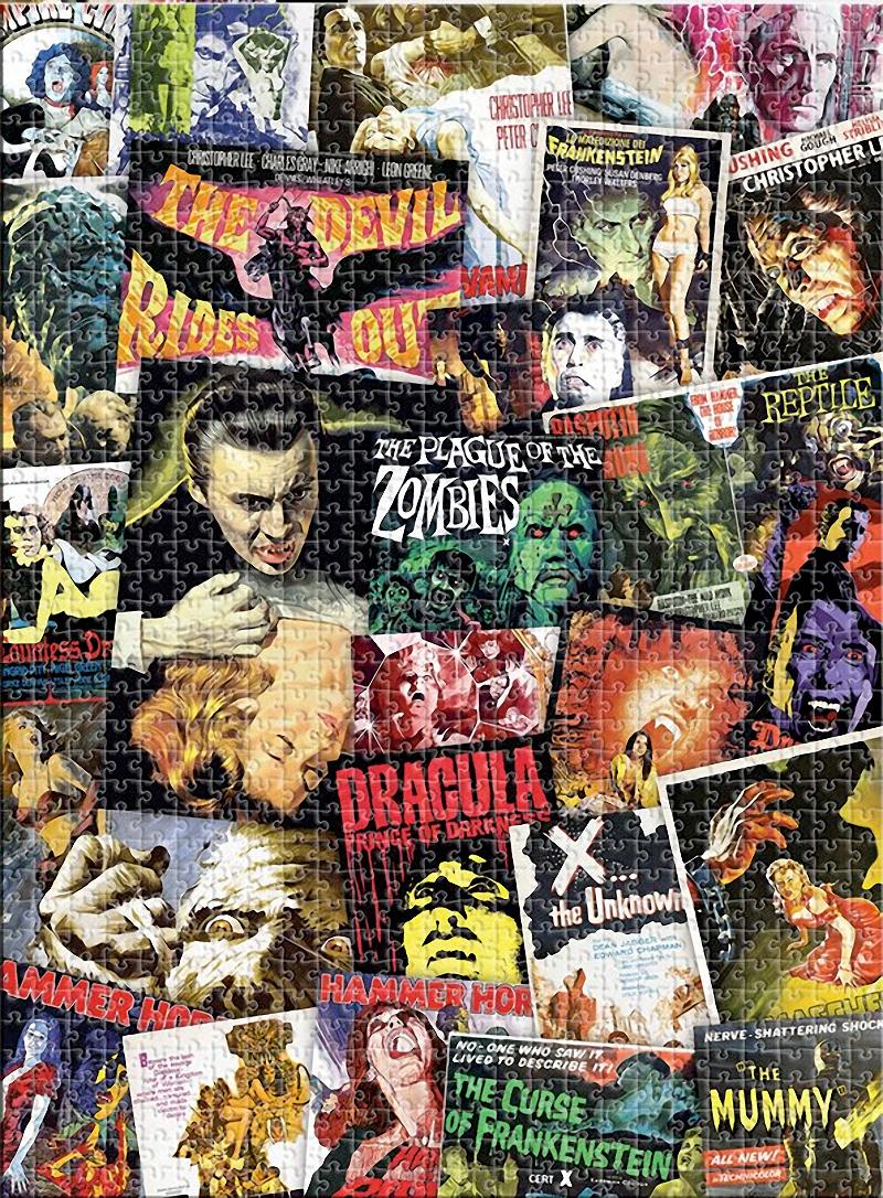 Quebra-Cabeça Hammer Horror Classic Movies Collage 1000-Piece Puzzle