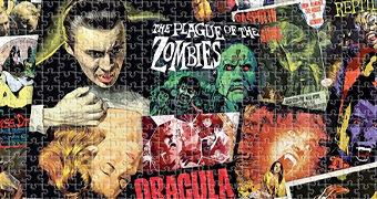 Quebra-Cabeça Filmes de Terror Clássicos Hammer Horror com 1.000 Peças