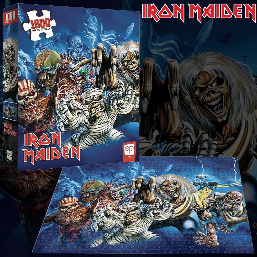 Quebra-Cabeça Iron Maiden The Faces of Eddie 1000-Piece Puzzle