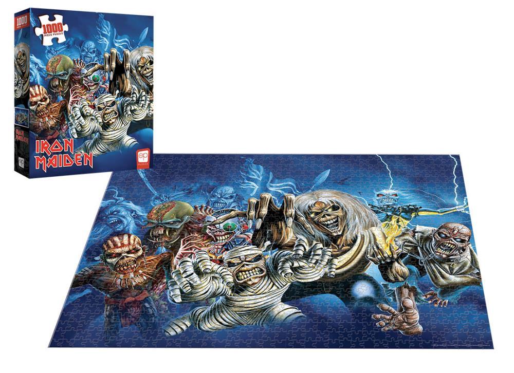 Quebra-Cabeça Iron Maiden The Faces of Eddie 1000-Piece Puzzle
