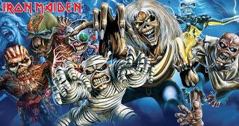 """Quebra-Cabeça Iron Maiden """"The Faces of Eddie"""" com 1.000 Peças"""