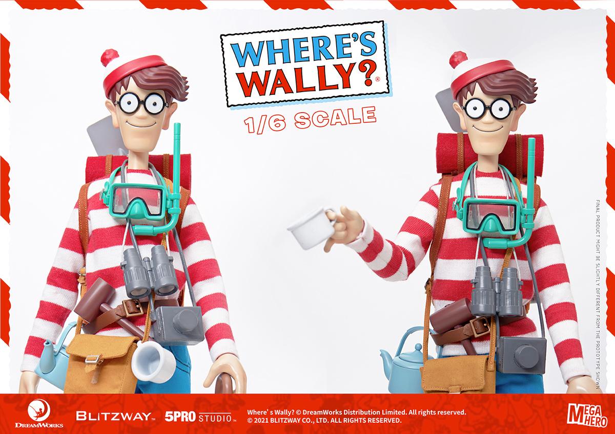 Where's Waldo? Waldo 1/6 Scale MEGAHERO Figure