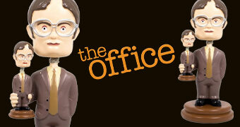 Dwight Schrute Bobble Head Segurando Boneco Dwight Bobble Head (The Office)