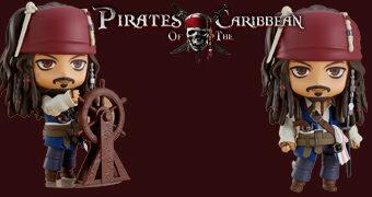 Boneco Nendoroid Jack Sparrow Piratas do Caribe