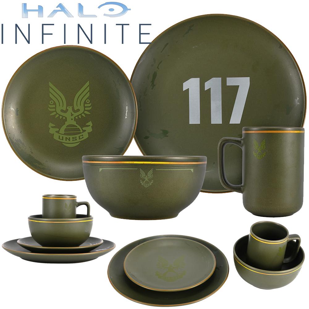 Jogo de Pratos Halo Infinite Master Chief Petty Officer John-117