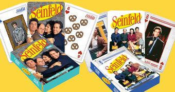 Baralhos Seinfeld com Fotos e Ícones da Série Sobre Nada