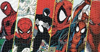 Quebra-Cabeça Spider-Man Timeline de 1962 a 2018 com 1.000 Peças (Homem-Aranha)