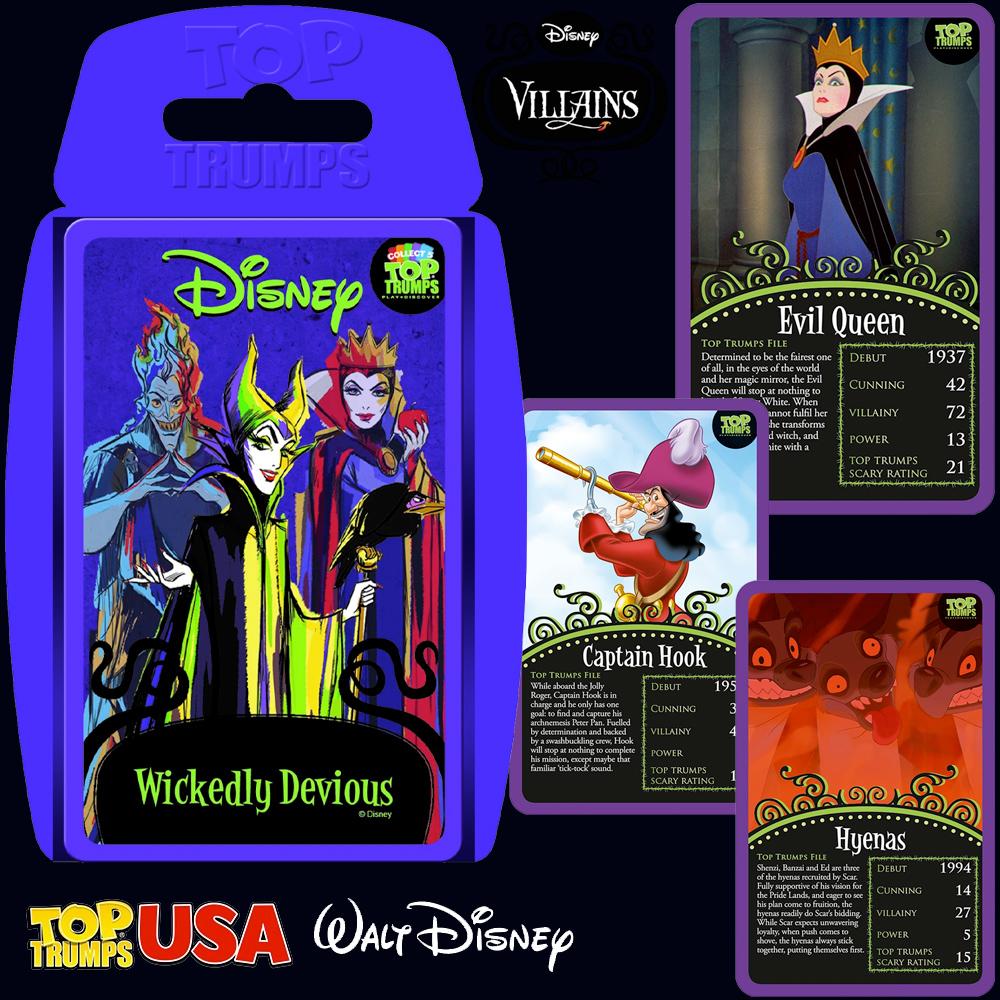 Super Trunfo Vilãs e Vilões Disney