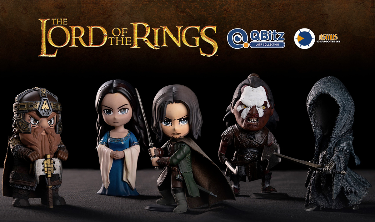 Bonecos O Senhor dos Aneis The Lord of the Rings QBitz Series 1 Boxed Set