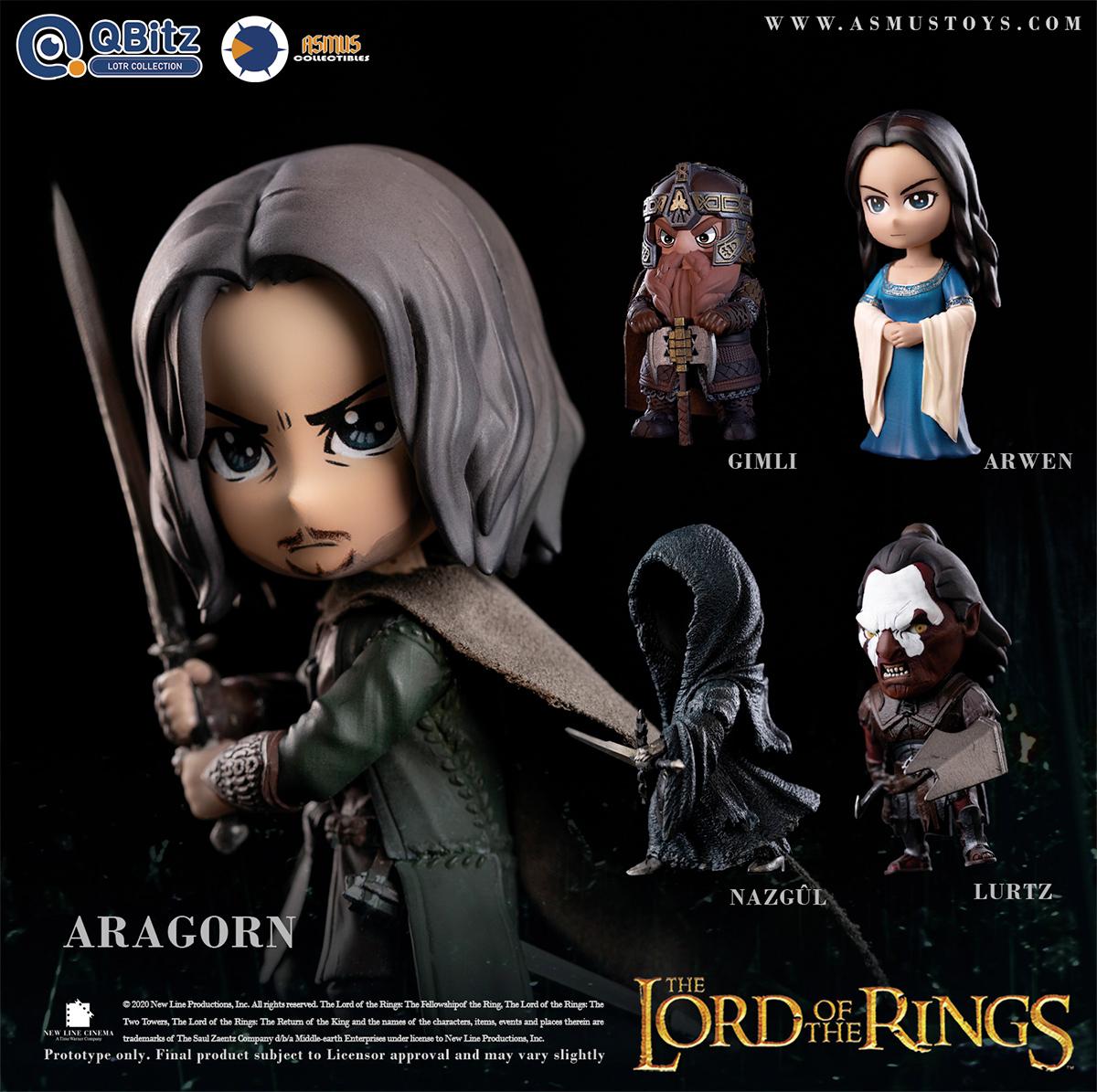 Bonecos O Senhor dos Aneis The Lord of the Rings QBitz Series 1 Boxed Set