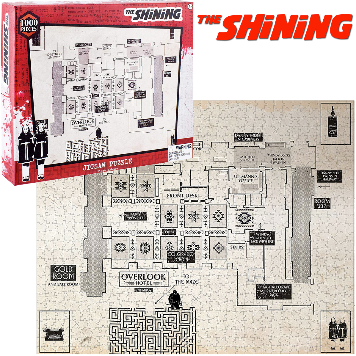 Quebra-Cabeca O Iluminado The Shining Floor Plan 1000-Piece Jigsaw Puzzle