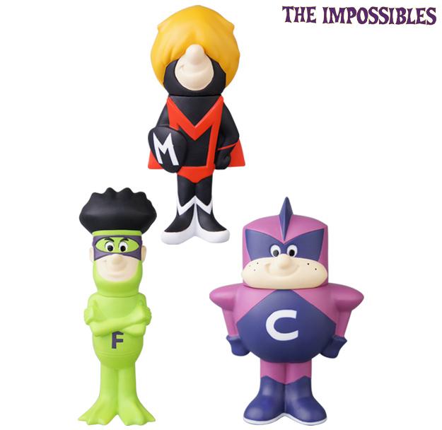 Frankenstein Jr e Os Impossíveis - Bonecos de Vinil Hanna-Barbera da Medicom Toy