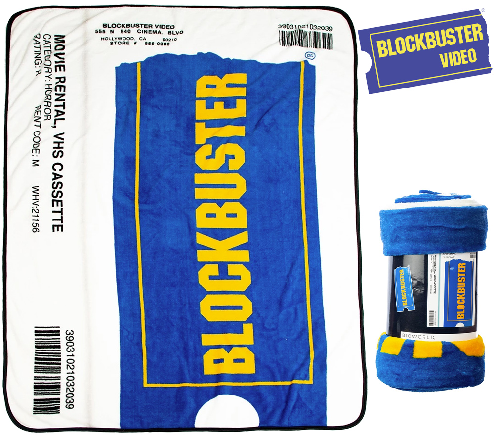 Cobertor de Lance Caixa VHS da Blockbuster