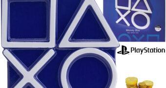 Cofre de Moedas PlayStation: Triângulo, Círculo, Cruz e Quadrado