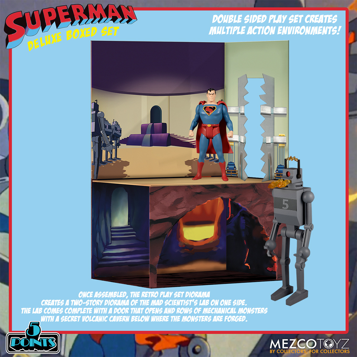 Superman - The Mechanical Monsters (1941) 5 Points Figures Deluxe Boxed Set