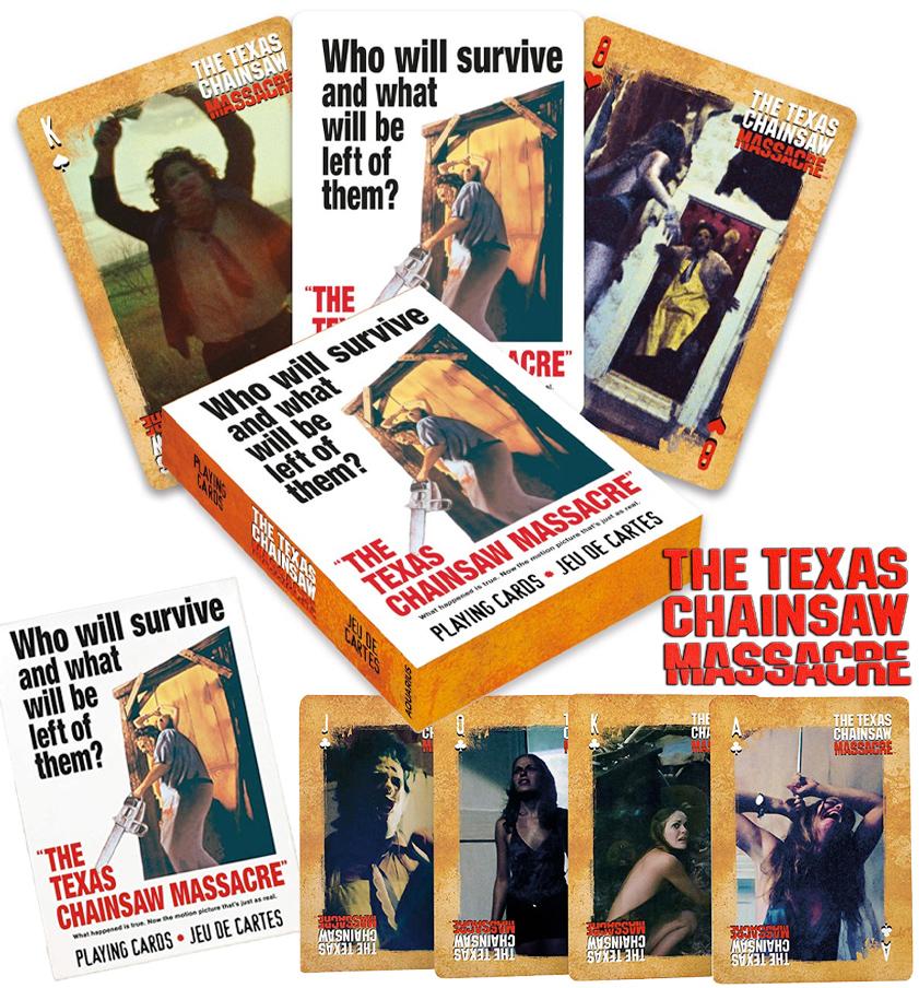 Baralho Massacre da Serra Eletrica Texas Chainsaw Massacre Playing Cards