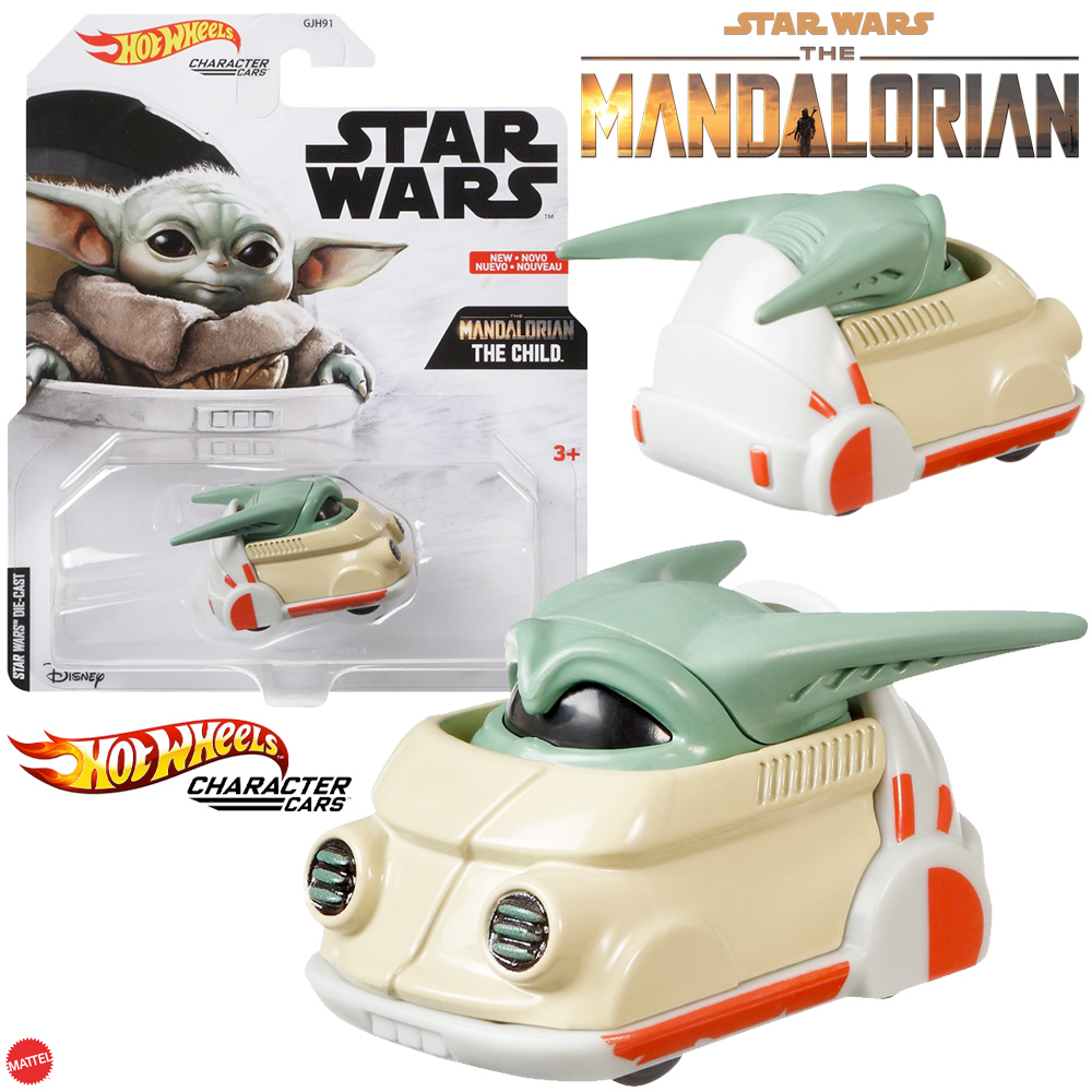 Carrinho Hot Wheels Baby Yoda Star Wars: The Mandalorian