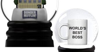 Globos de Neve The Office: Dunder Mifflin e Melhor Chefe do Mundo