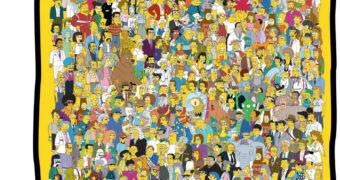 Cobertor Os Simpsons com o Elenco Completo