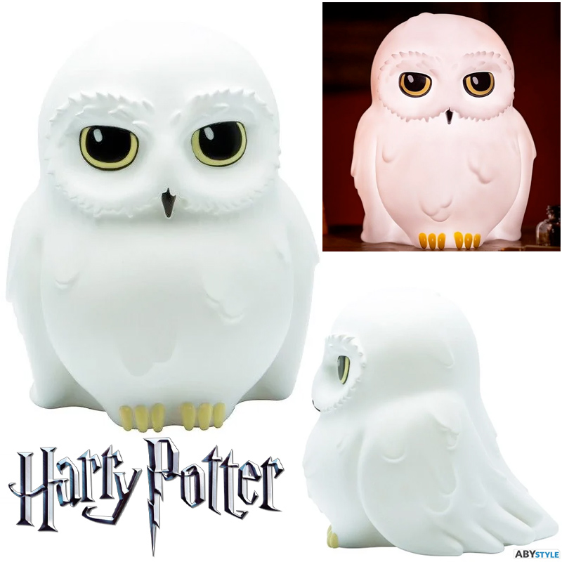 Luminária Coruja-das-Neves Edwiges Hedwig Harry Potter