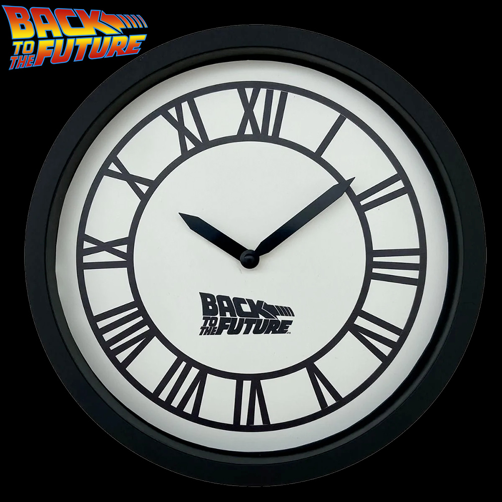 Relogio de Parede De Volta para o Futuro Back To The Future Hill Valley Wall Clock