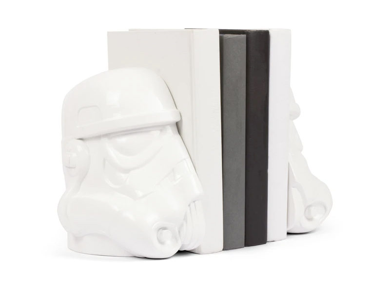 Apoios de Livros Original Stormtrooper Bookends Shepperton Design Studios