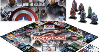 Jogo Monopoly Falcão e o Soldado Invernal Marvel Studios (Disney+)