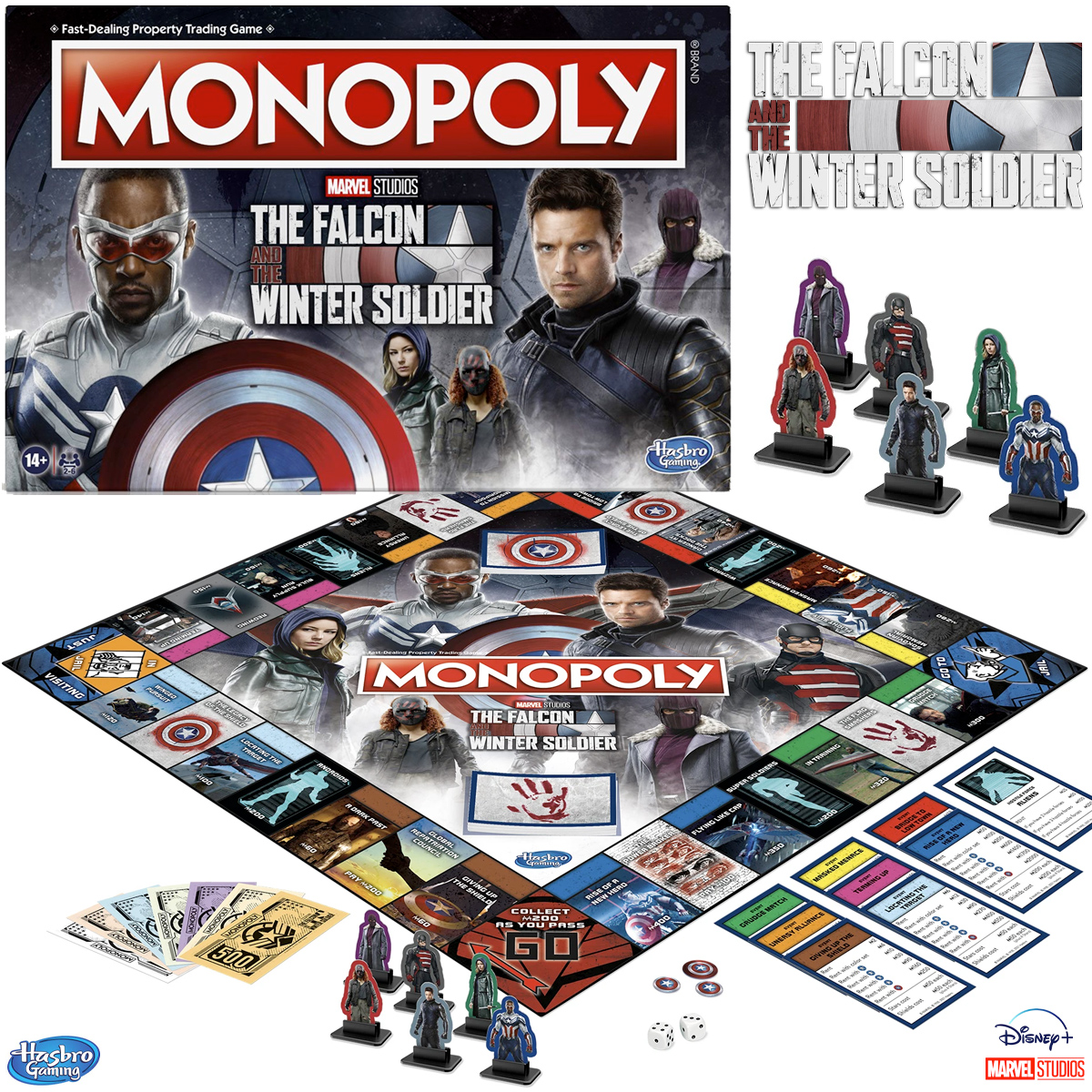 Jogo Monopoly Marvel Studios The Falcon and the Winter Soldier Edition