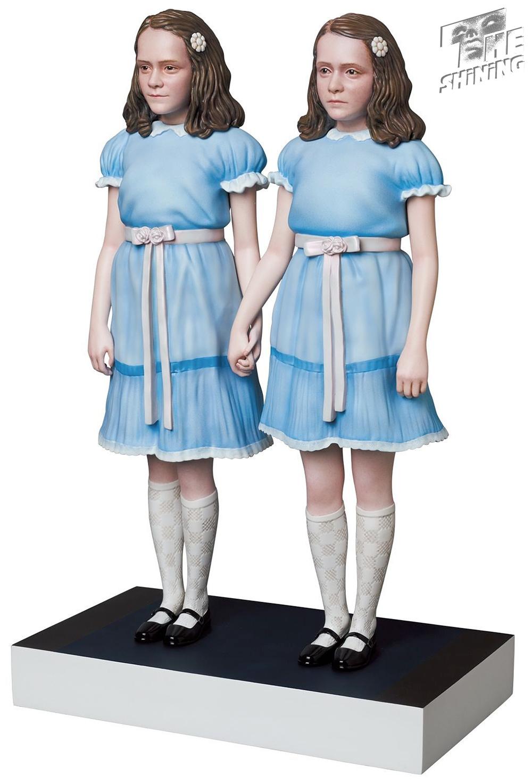 Estátua Gêmeas Grady de O Iluminado em Estilo Realista Medicom