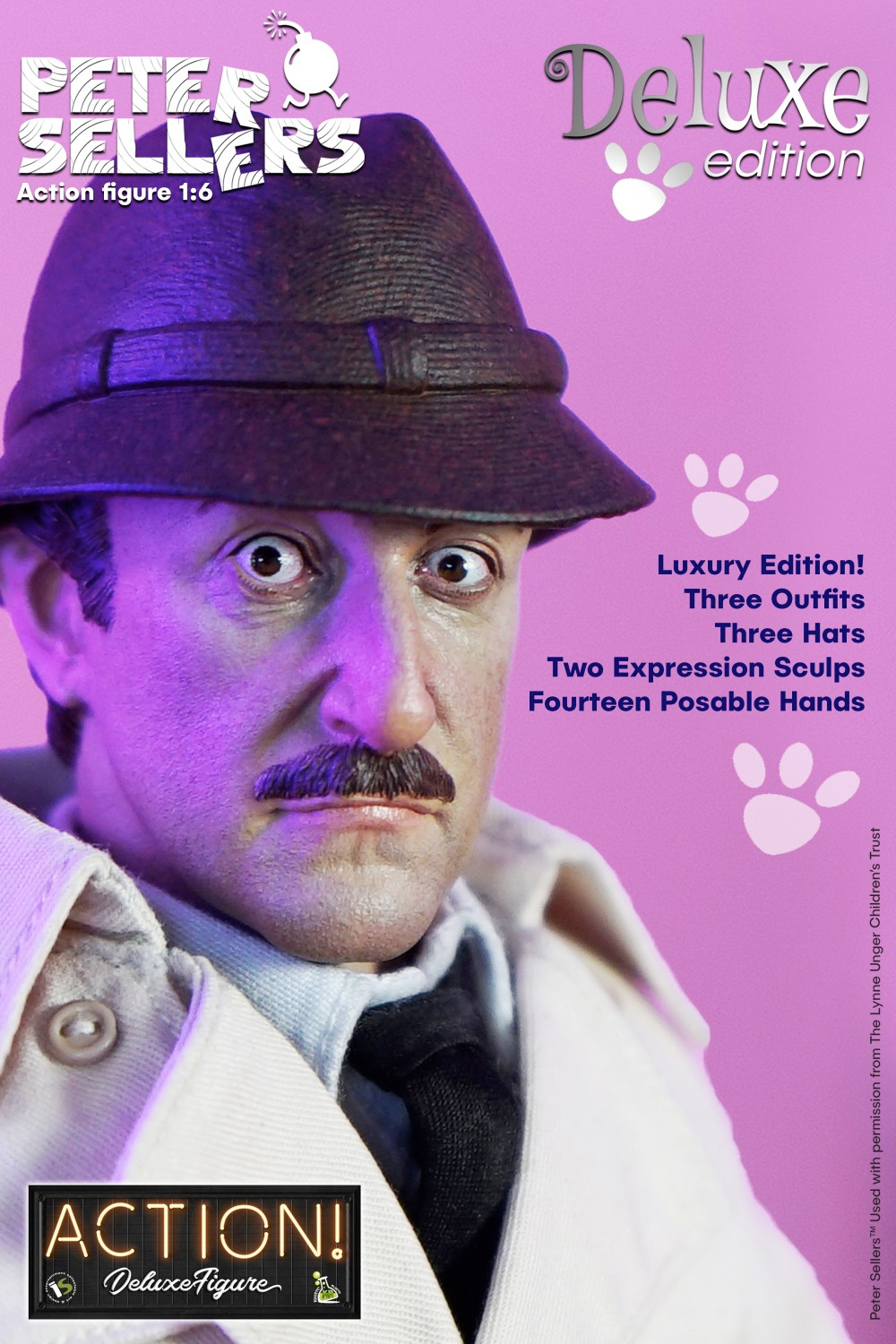 Action Figure Peter Sellers Inspetor Jacques Clouseau Deluxe Infinite Statue