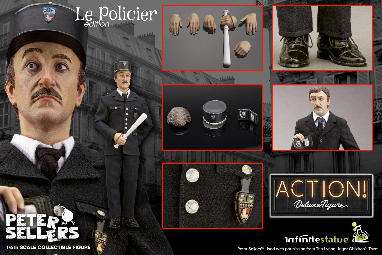 Action Figure Peter Sellers como Inspetor Clouseau em A Pantera Cor-de-Rosa
