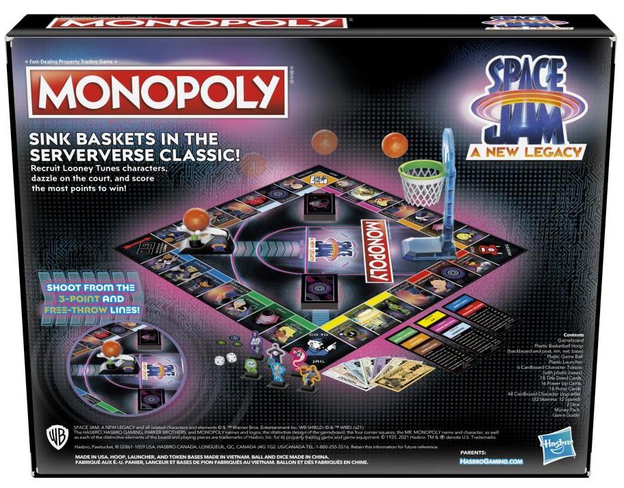 Jogo Monopoly Space Jam 2: Um Novo Legado