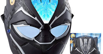 Máscara Pantera Negra com Efeitos de Luzes FX