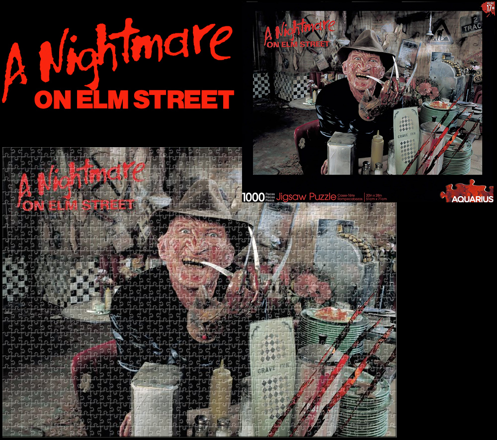 Quebra-Cabeça Freddy Kruger na Lanchonete Crave Inn A Nightmare On Elm Street