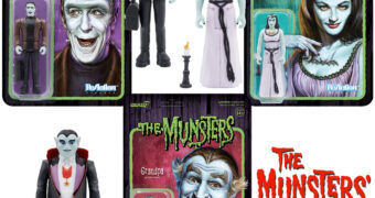 Action Figures Os Munsters ReAction: Herman, Lily e Vovô