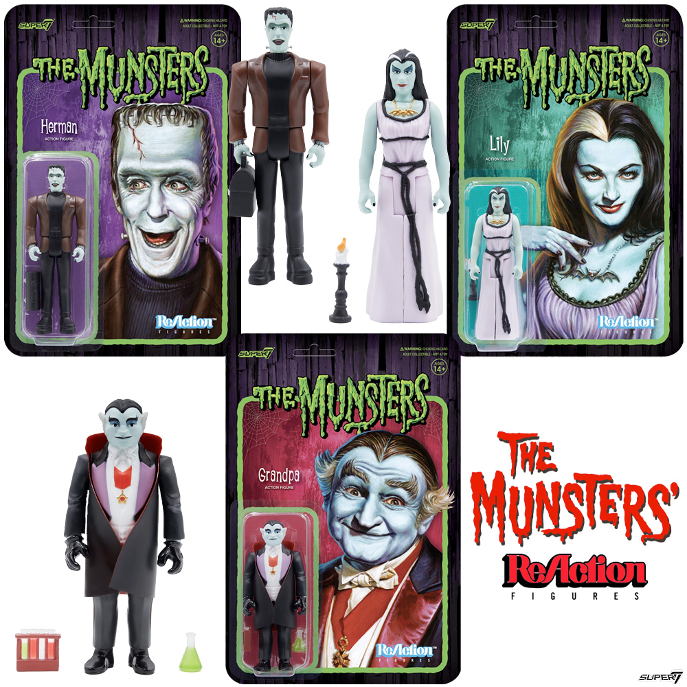 The Munsters ReAction Figures Wave 1 Super7