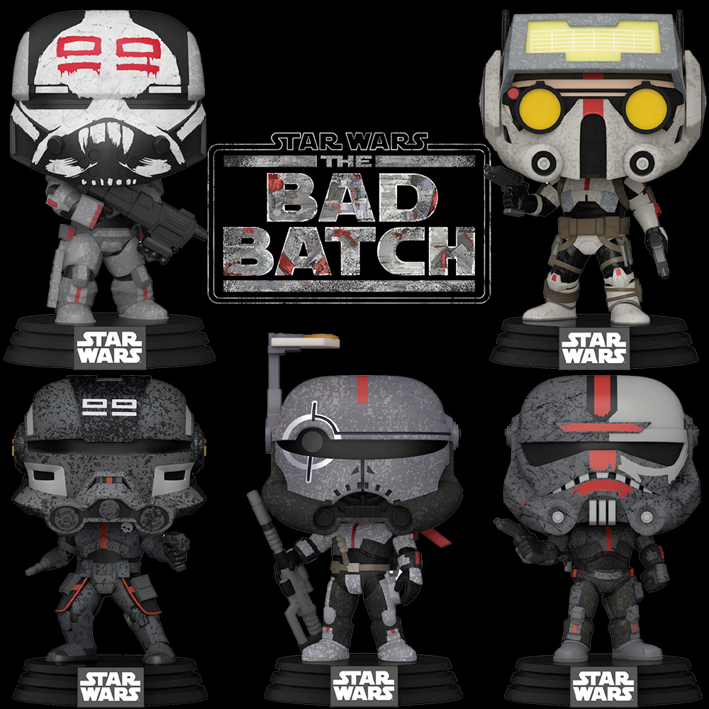 Bonecos Pop! da Nova Série Star Wars: The Bad Batch