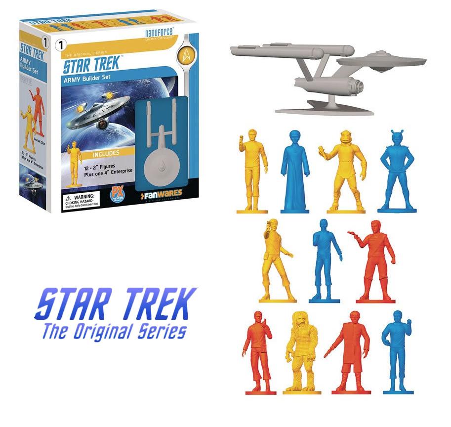 Bonecos Star Trek Nanoforce Army Builder Mini-Figures