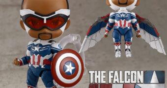 Boneco Nendoroid Capitão América (Sam Wilson) da Série Falcão e o Soldado Invernal