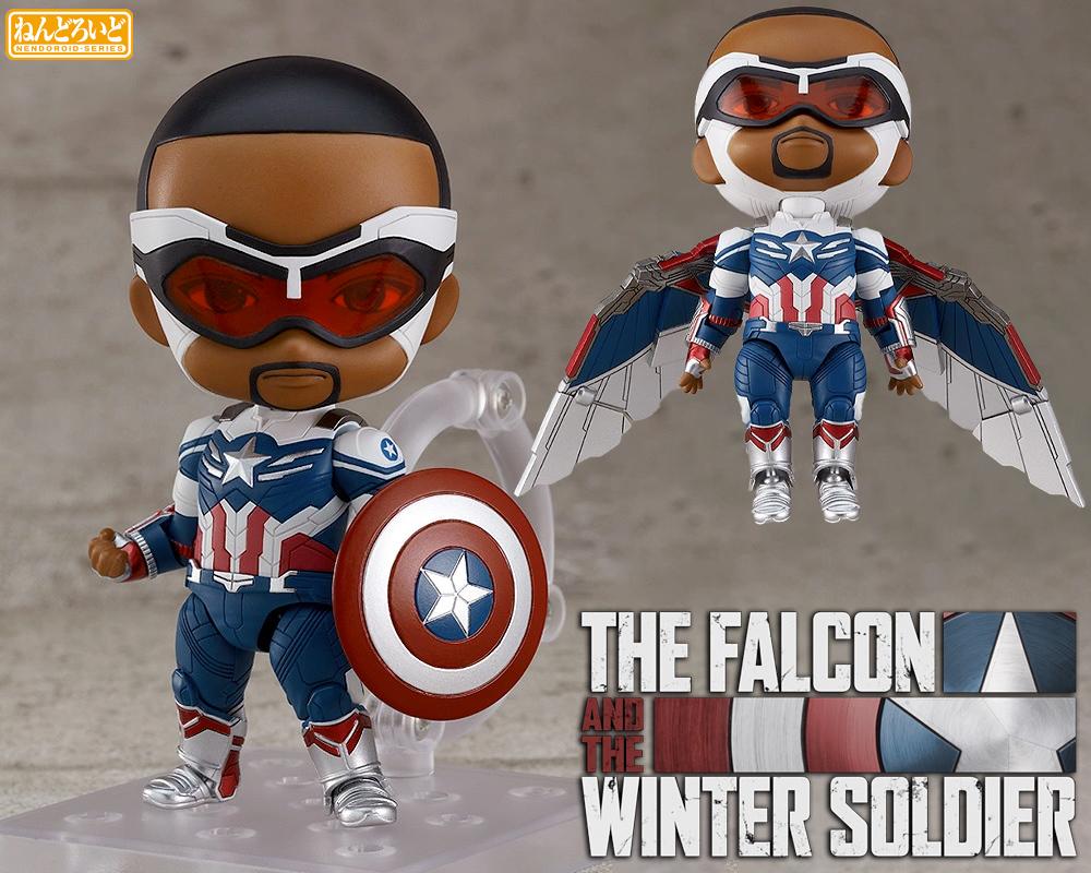 Boneco Nendoroid Captain America Sam Wilson DX The Falcon and The Winter Soldier
