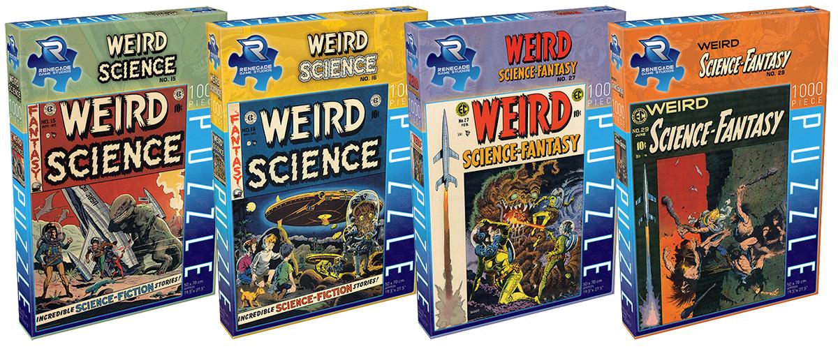 Quebra-Cabeças EC Comics Weird Science Comic Book Magazine Jigsaw Puzzles