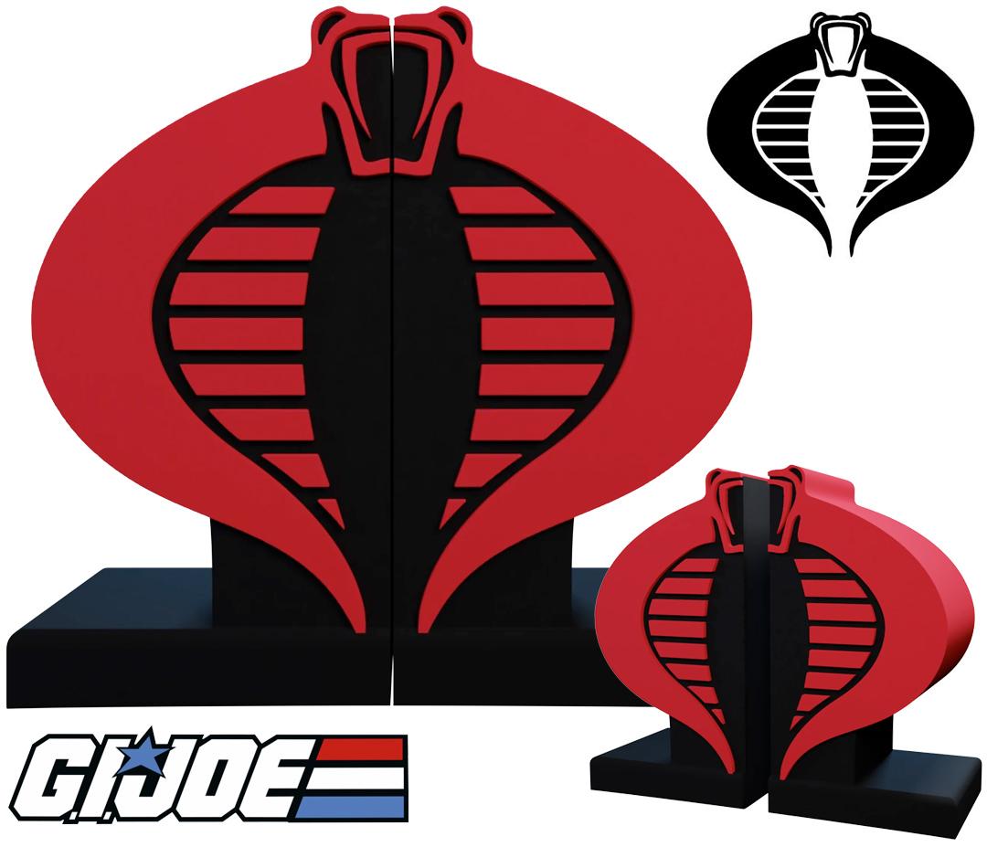 Apoios de Livros G.I. Joe Cobra Bookends