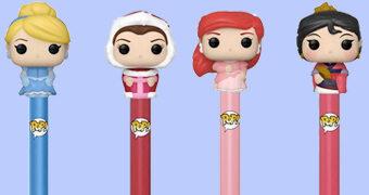 Canetas Pop! Pen Princesas Disney: Cinderella, Ariel, Belle e Mulan