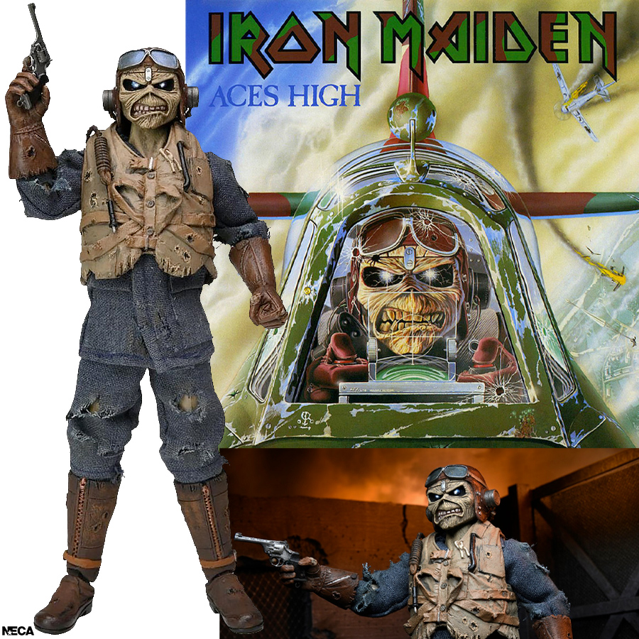 Aces High Eddie Iron Maiden 8-Inch Clothed Action Figure
