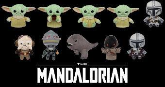 Chaveiros de Pelúcia Star Wars: The Mandalorian Figural Plush Bag Clips