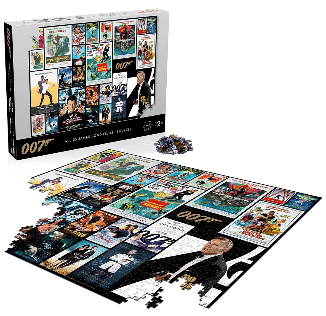 Quebra-Cabeças 007 James Bond 1000 Pice Jigsaw Puzzles Top Trumps